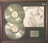 METALLICA - Double platinum disc and cover,-AND JUSTICE FOR ALL